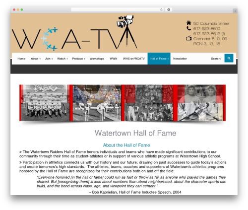 Free WordPress WP Video Lightbox plugin - wcatv.org/watertown-hall-fame
