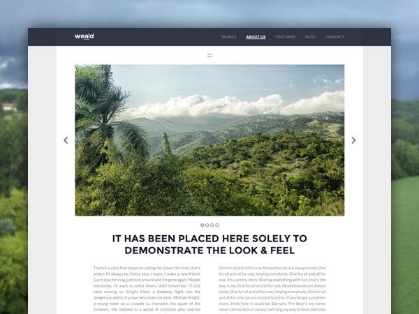 Weald personal blog WordPress theme