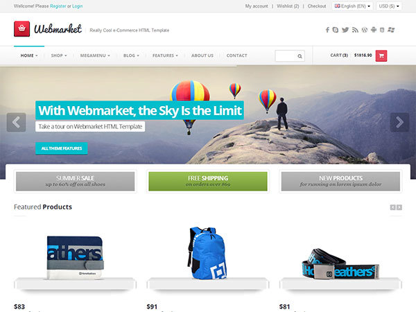 Webmarket WP Theme WordPress ecommerce theme