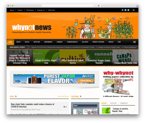 WHYNOTNEWS newspaper WordPress theme - whynotnews.net