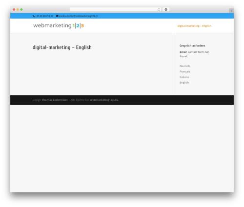 WordPress template Divi - webmarketing123.ch