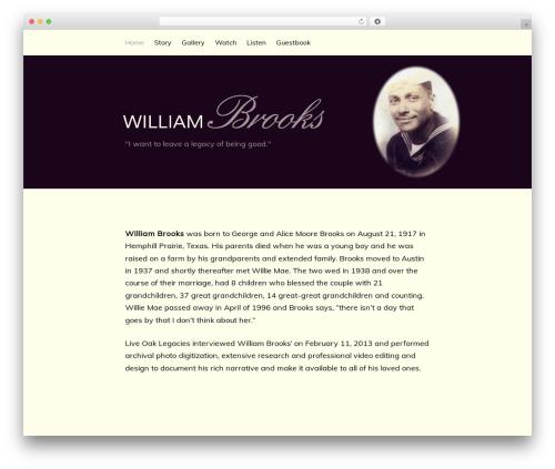 WordPress template Genesis - williambrooksfamily.com