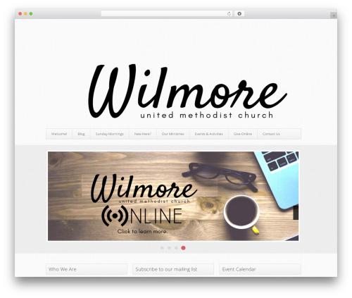 WordPress template Trinity (Free Edition) - wilmoreumc.com