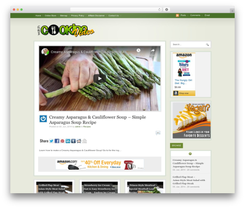 WordPress template WooTube - watchcookingvideo.com