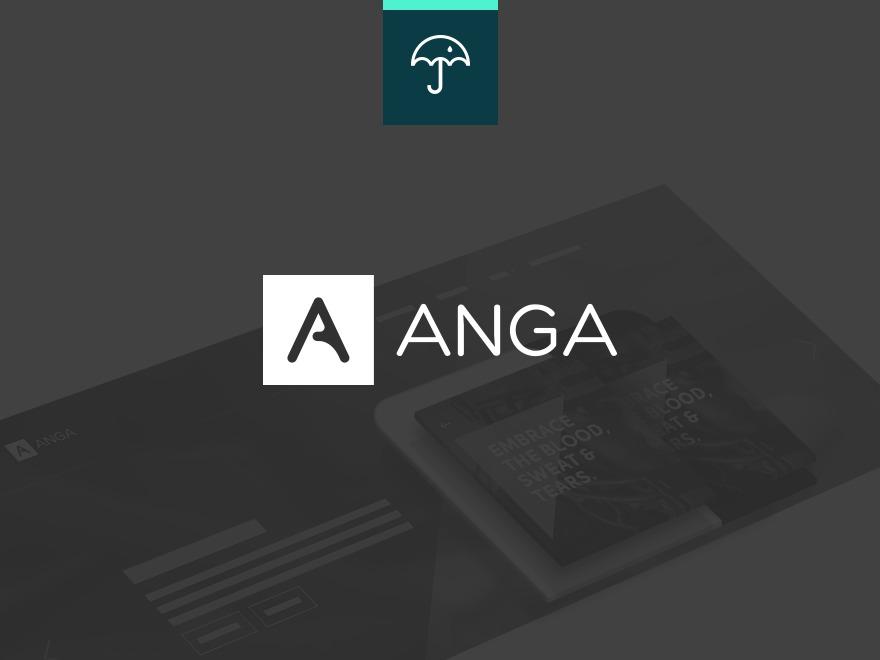 WordPress theme Anga