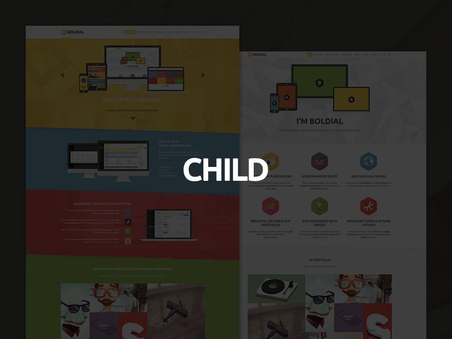 WordPress theme Boldial Child