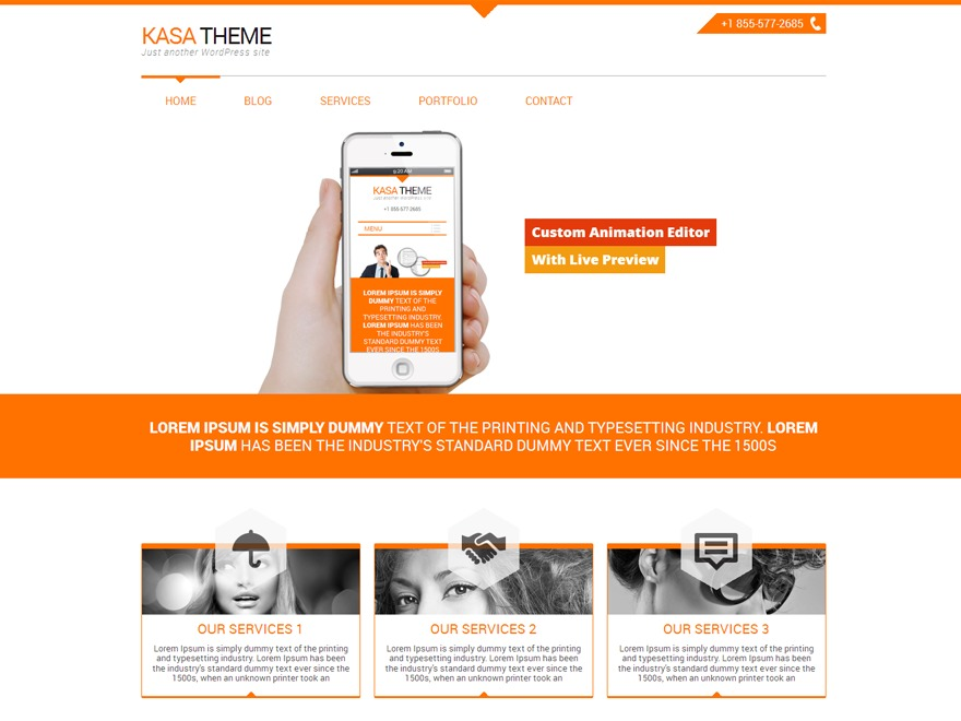 WordPress theme Kasa