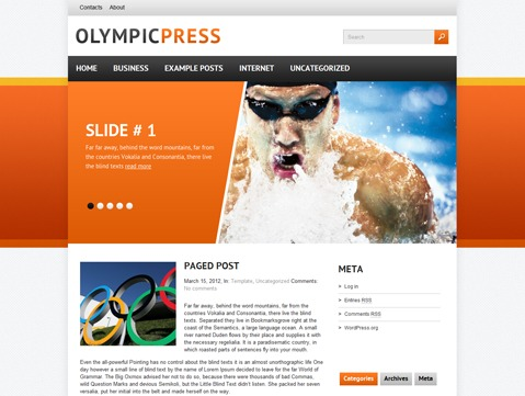 WordPress theme OlympicPress