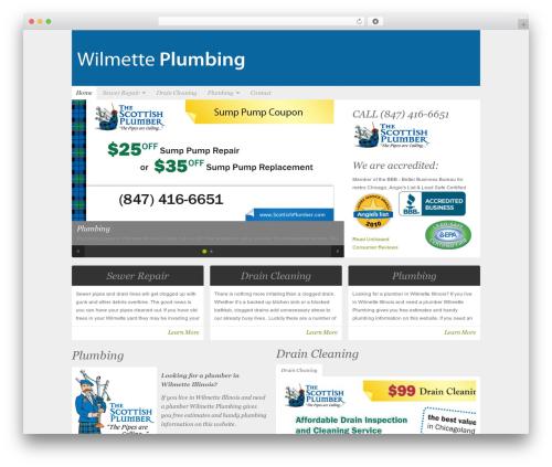 WordPress theme Organic-NonProfit - wilmette-plumbing.com