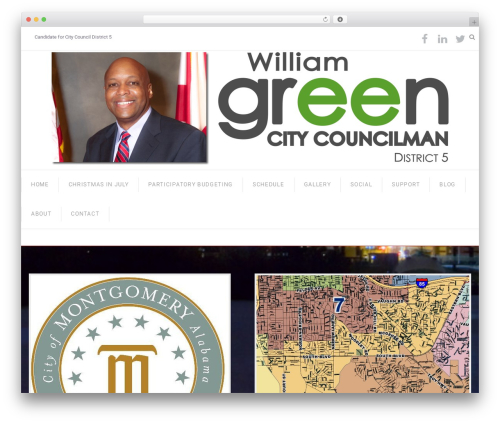 WordPress theme Senator - williamgreencitycouncil.org