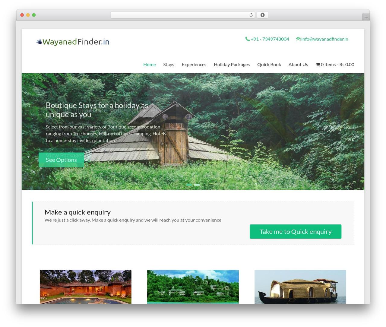 WordPress theme Spacious - wayanadfinder.in