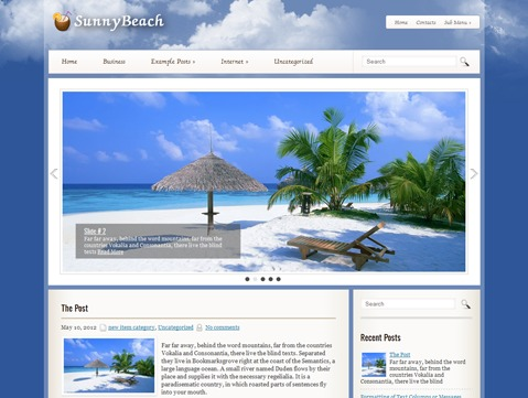 WordPress theme SunnyBeach