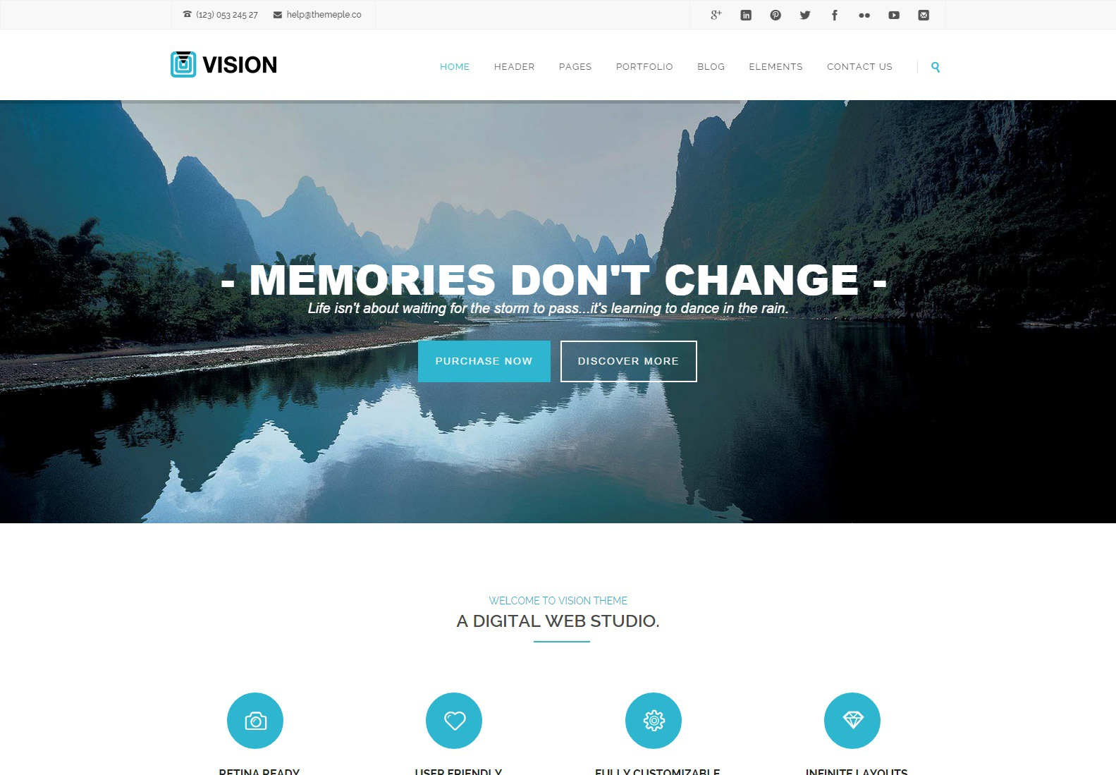 WordPress theme Vision WP