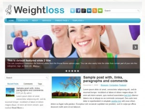 WordPress theme weightloss
