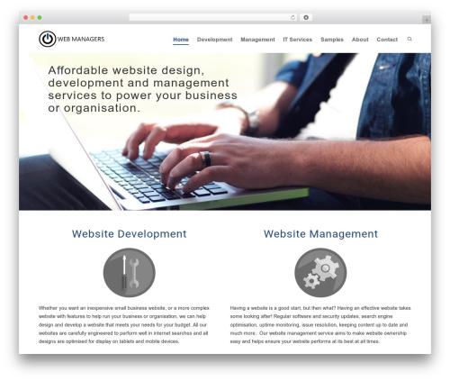 WordPress website template Brazil - webmanagers.co.nz