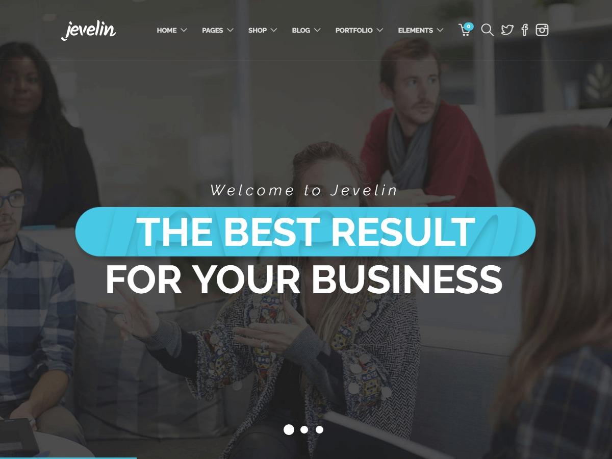 WordPress website template Jevelin Child