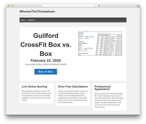 WordPress website template Responsive - wheresthethrowdown.com