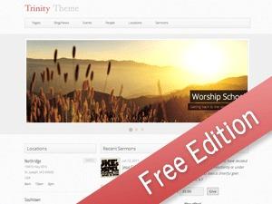 WordPress website template Trinity (Free Edition)
