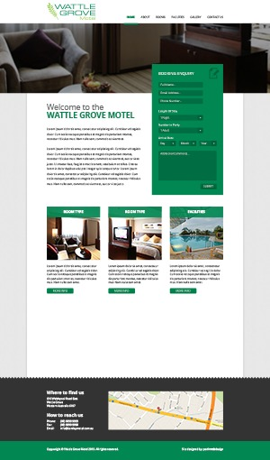 WordPress website template Wattle Grove