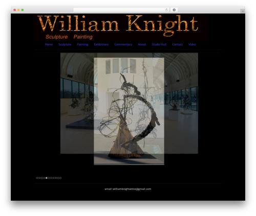 WP theme Clean Black - williamknightartist.com