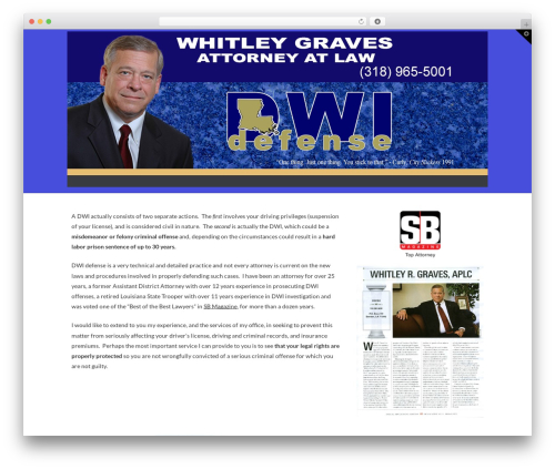 Free WordPress Cornerstone plugin - whitgraves.com