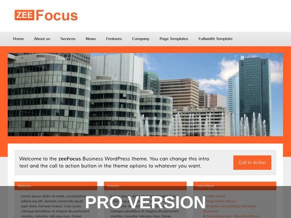 zeeFocusPro WordPress theme design