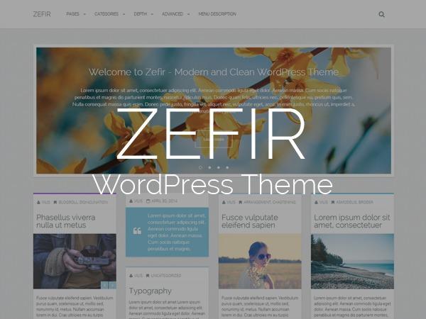 Zefir - Simple and Clean WordPress Masonry Blog Theme WordPress blog theme