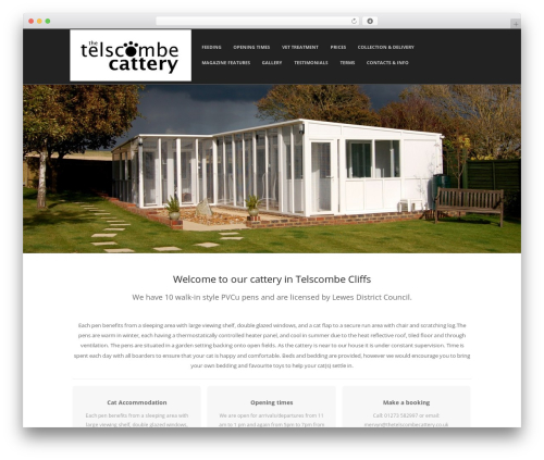Adamos best free WordPress theme - thetelscombecattery.co.uk