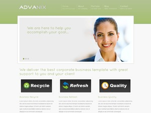 Advanix Green WordPress page template