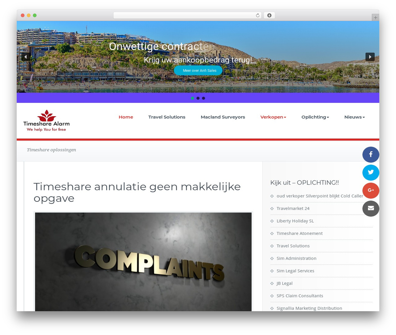 BusiProf Pro template WordPress - timesharealarm.com
