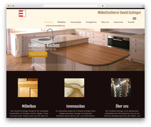 Customizr best free WordPress theme - tischlerei-esslinger.de