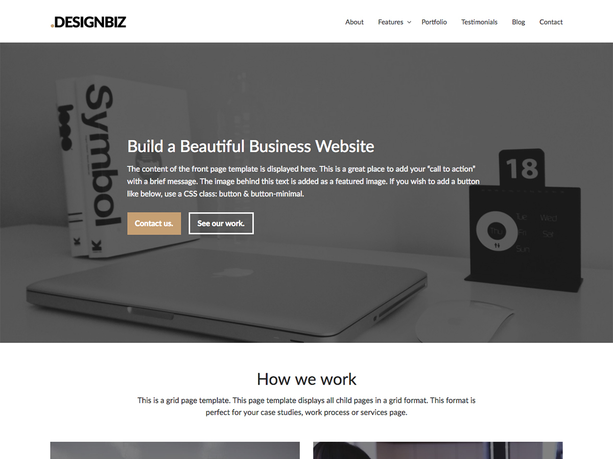 Designbiz WordPress template for business
