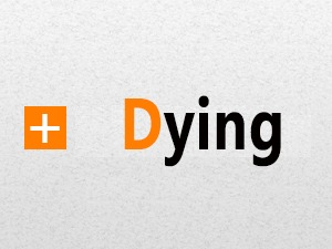 Dying WordPress website template