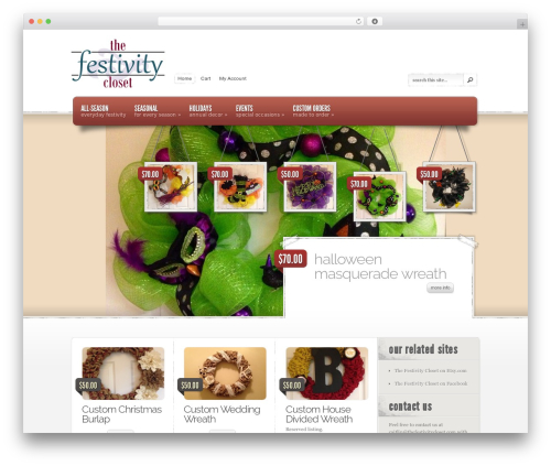 eStore best WordPress theme - thefestivitycloset.com
