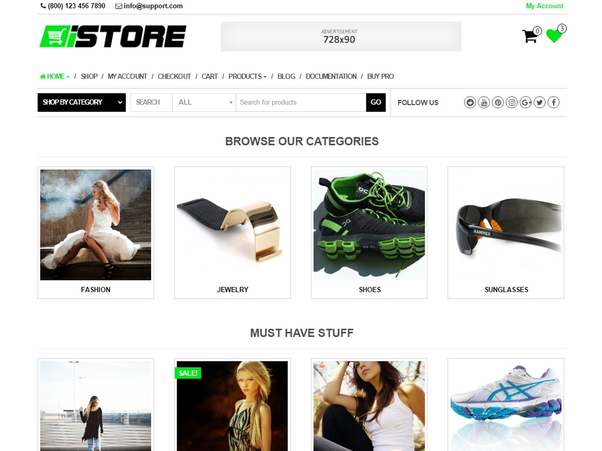 iStore template WordPress free