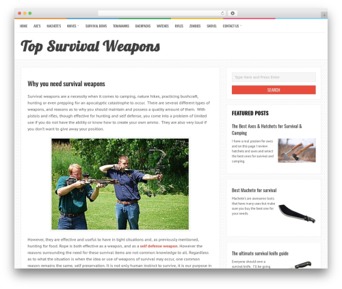 LiveBlog best free WordPress theme - topsurvivalweapons.com