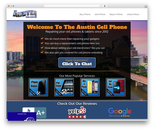 Free WordPress Local Search SEO Contact Page plugin - theaustincellphone.com