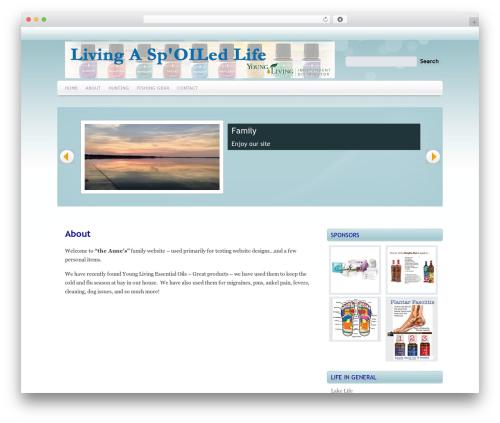 Marina WordPress theme design - theaunes.com