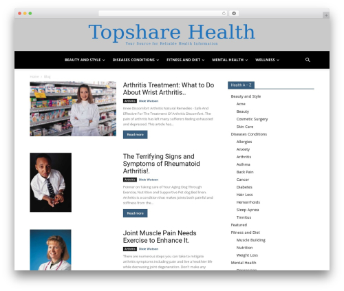 Newspaper WordPress news theme - topsharehealth.com