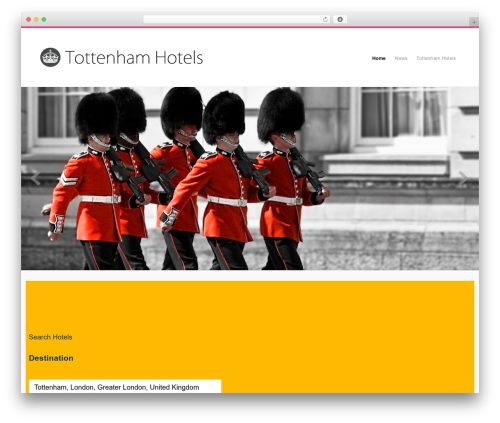 Organic Response Theme best hotel WordPress theme - tottenhamhotels.com