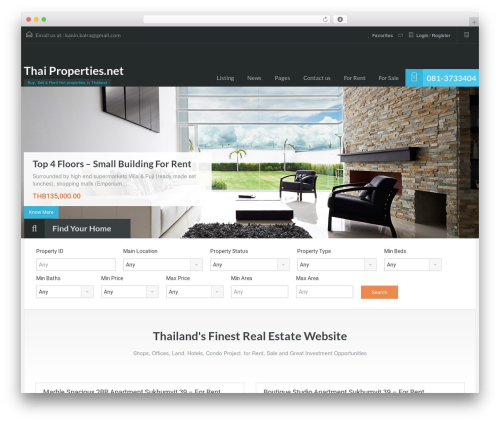 RealHomes Theme template WordPress - thai-properties.net