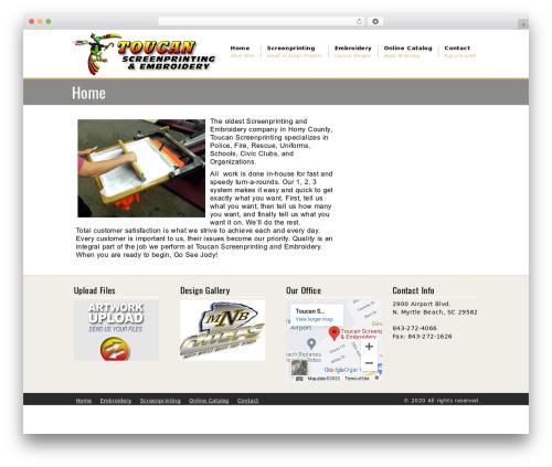 The Service Theme best WordPress theme - toucanscreenprinting.com
