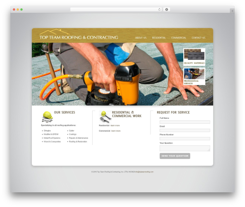 Theme WordPress Design Agency WP Edition - topteamroofing.com