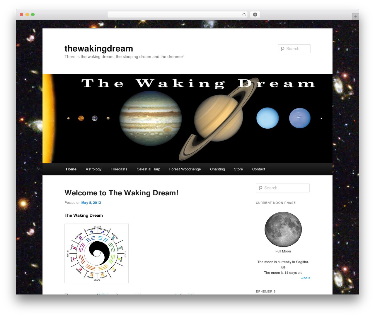 Twenty Eleven WordPress template free - thewakingdream.net