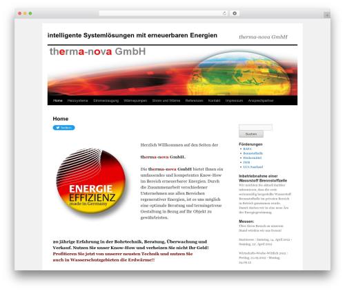 Twenty Ten template WordPress free - therma-nova.de