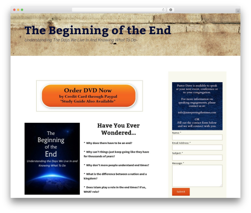 Twenty Thirteen template WordPress free - thebeginningoftheenddvd.com