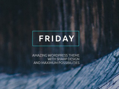 WordPress theme Friday Child Theme