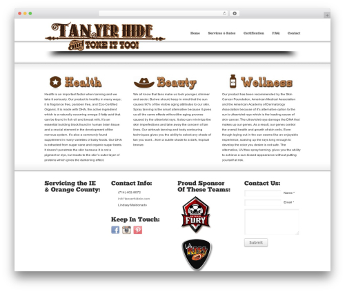 WordPress theme Striking - tanyerhideie.com