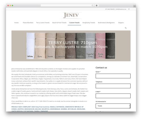 Free WordPress Ditty News Ticker plugin - towels.co.za