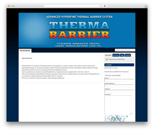 WP-Chatter WordPress theme - thermabarrier.com.au
